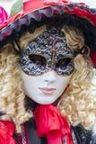 Den Venetian karnevalet maskerar Arkivbilder
