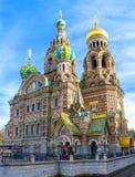 Den unika domkyrkan på Spilled blod i St Petersburg arkivbild