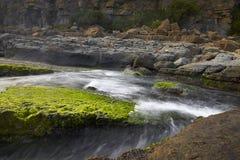 Den unika landformen och det stora landskapet av den Taiwan norrkusten arkivfoto