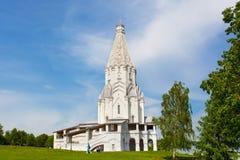 Den unika tältkyrkan i Kolomenskoe parkerar Royaltyfria Foton