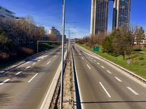 Den Unloved huvudvägen royaltyfri foto