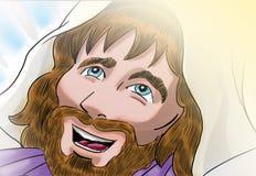 Den uppstigna Kristus Fotografering för Bildbyråer