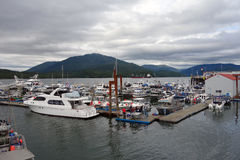 Den upptagna hamnen på prinsen rupert Royaltyfria Foton