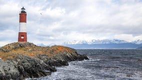 Den Ushuaia fyren Arkivbild