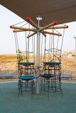 Den utomhus- barnlekplatsen i en stad parkerar Fotografering för Bildbyråer