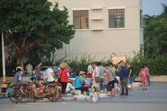 Den utomhus- havs- marknaden i shekoufiskeport Arkivbild