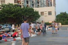 Den utomhus- havs- marknaden i shekoufiskeport Royaltyfri Fotografi