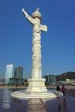 Den utsmyckade monumentet, Xinghai kvadrerar, Dalian, Kina Royaltyfri Foto