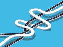 Den vägturen och resan sänder den infographic mallen med stiftpekaren Fotografering för Bildbyråer