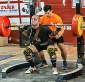 Den 2014 världscupen som powerlifting AWPC i Moskva Royaltyfria Bilder