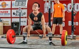 Den 2014 världscupen som powerlifting AWPC i Moskva Arkivfoton