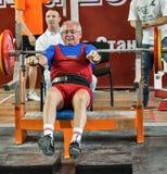 Den 2014 världscupen som powerlifting AWPC i Moskva Royaltyfria Foton