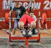 Den 2014 världscupen som powerlifting AWPC i Moskva Fotografering för Bildbyråer