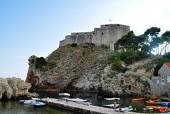 Den västra hamnen och fästningen arkivfoton