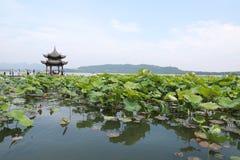 Den västra lakehangzhouen, porslin arkivbild