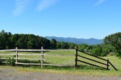 Den västra NC-berglantgården och betar Royaltyfria Bilder