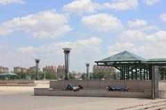 Den västra stationen Arkivbilder