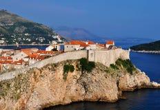 Den västra väggen av Dubrovnik arkivfoton