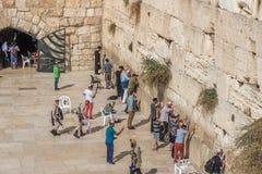 Den västra väggen eller att jämra sig vägg, Jerusalem, Israel royaltyfri fotografi