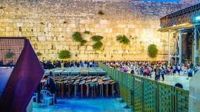 Den västra väggen i Jerusalem är ett viktigt judiskt sakralt ställe arkivbild
