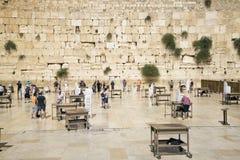 Den västra väggen i jerusalem Israel Arkivbilder