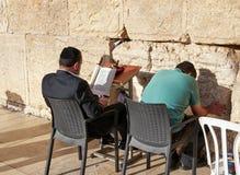 Den västra väggen också som är bekant som den att jämra sig väggen eller Kotel i Jerusal Arkivbilder