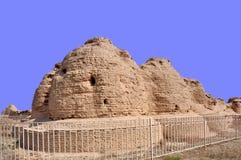 Imperialistiska Tombs av västra Xia Royaltyfria Bilder