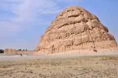 Imperialistiska Tombs av västra Xia Arkivfoto