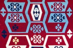 Den vävde bomullsfilten med många färgar Royaltyfria Foton