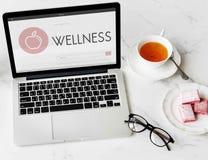 Den vård- wellnessen bantar organiskt begrepp för övning arkivfoton