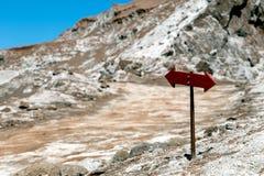 Den Valle de för månedalområde laen Luna av geologiskt bildande av stenen och sand som lokaliseras i, saltar bergskedja, Atacama arkivbilder
