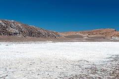 Den Valle de för månedalområde laen Luna av geologiskt bildande av stenen och sand som lokaliseras i, saltar bergskedja, Atacama arkivfoto