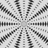 Den vanliga svartvita gardinen snör åt den sömlös modellen som radial arrangera i rak linje och Vektor Illustrationer
