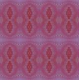 Den vanliga utsmyckade ovalen smyckar violetta sömlösa lilor och brunt vektor illustrationer
