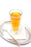 Den varma citrusa drinken med alkohol, produktfotografi för restaurang, övervintrar den varma drinken Royaltyfria Foton