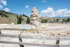 den varma kolossala nationalparken springs yellowstone royaltyfria foton