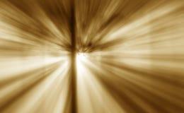 Den varma solen rays ljusa effekter Royaltyfri Foto