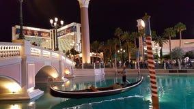 Den Venetian gondolen Arkivfoton