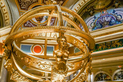 Den Venetian hotell- och kasinobilden av inomhus skulptur Arkivbilder
