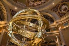 Den Venetian hotell- och kasinobilden av inomhus skulptur Fotografering för Bildbyråer