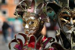 Den Venetian karnevalet maskerar till salu Fotografering för Bildbyråer