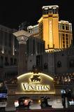 Den Venetian kasinot för semesterorthotell i Las Vegas Fotografering för Bildbyråer