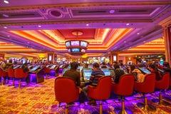 Den Venetian kasinot inomhus Arkivfoton