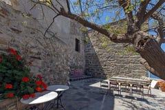 Den Venetian slotten i den Naxos ön, Cyclades Arkivbilder