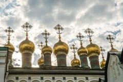 Den Verkhospassky domkyrkan i MoskvaKreml Arkivbilder