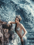 Den verkliga sjöjungfrun Arkivbilder