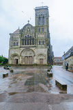 Den Vezelay abbotskloster Arkivfoto