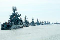 Den Victory Day marinen ståtar Royaltyfri Bild