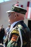 Den Vietnam veteran på Ypsilantien, MI 4th Juli ståtar Arkivfoto