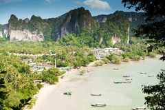 Railay strandkrabi thailand royaltyfri fotografi
